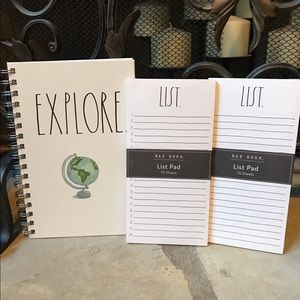 NWT Rae Dunn Notebook and List Pad Set